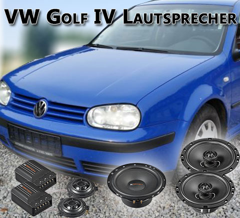 vw golf iv lautsprecher autoboxen lautsprecher einbau. Black Bedroom Furniture Sets. Home Design Ideas