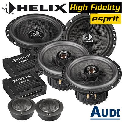 Audi-A3-8P-Lautsprecher-Einbauset-vordere-und-hintere-Einbauplätze