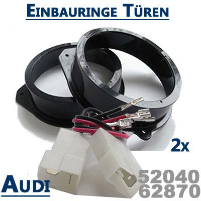 Audi-A3-Sportback-Lautsprecher-Einbauringe-hintere-oder-vordereTüren