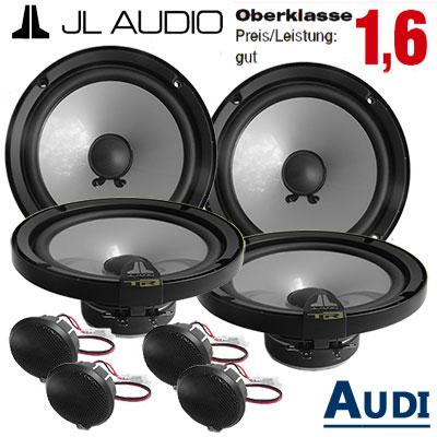 Audi-A4-B6-Lautsprecher-Set-Oberklasse-gut-mit-4-Hochtöner