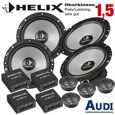 Audi-A4-B7-Lautsprecher-Set-Oberklasse-vorne-und-hinten