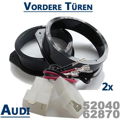 Audi-A8-Typ-D3-Lautsprecher-Einbauringe-vordere-Türen
