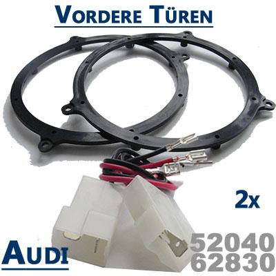 Audi-TT-8N-Lautsprecher-Einbauringe-vordere-Türen