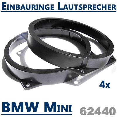 BMW-Mini-Lautsprecher-Einbauringe-vordere-Türen-hintere-Einbauplätze