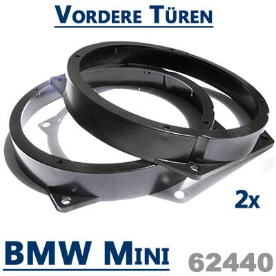 BMW-Mini-Lautsprecher-Einbauringe-vordere-Türen