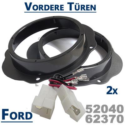 Ford-Focus-2-Lautsprecher-Einbauringe-vordere-Türen