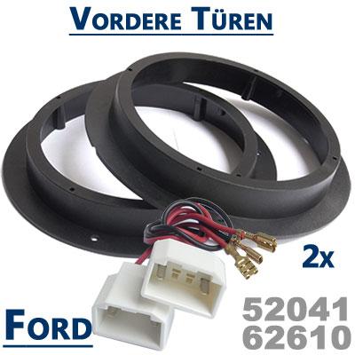 Ford-Mondeo-Lautsprecher-Einbauringe-vordere-Türen