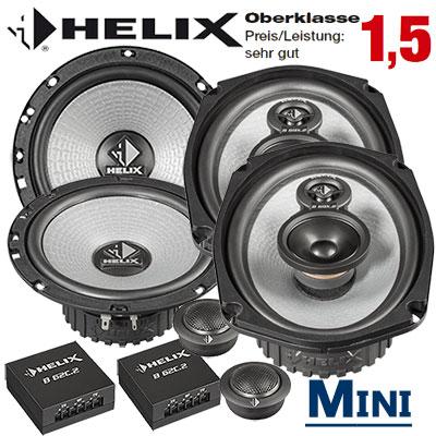 Mini-Cooper-Dreitürer-Auto-Lautsprecher-Set-Oberklasse-vorne-hinten