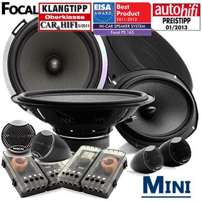 Mini-Cooper-Dreitürer-Lautsprecher-Set-Testsieger-vorne-und-hinten