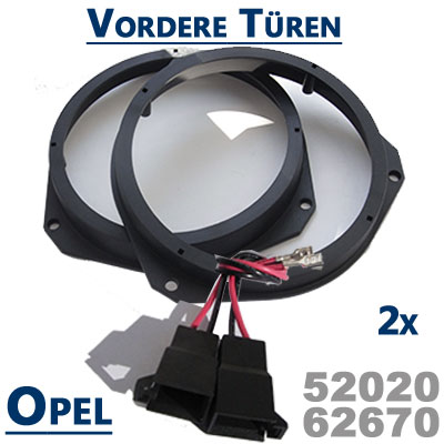 Opel-Astra-H-Lautsprecherringe-für-vordere-Türen