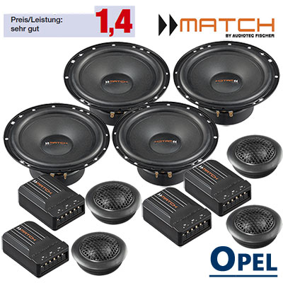 Opel-Meriva-A-Auto-Lautsprecher-Set-mit-4-Hochtöner