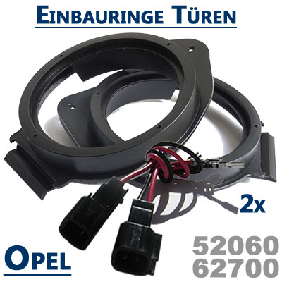 Opel-Mokka-Lautsprecher-Einbauringe-vordere-oder-hintere-Türen