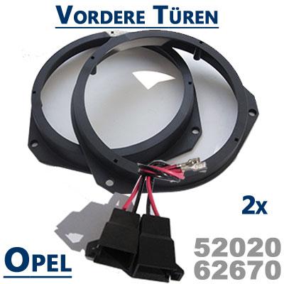 Opel-Zafira-B-Lautsprecherringe-für-vordere-Türen