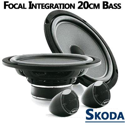 Skoda-Fabia-II-Lautsprecher-20cm-Bass-mit-Hochtöner-vordere-Türen