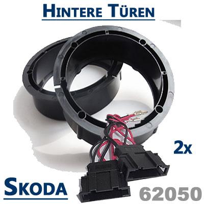 Skoda-Fabia-II-Lautsprecher-Einbauringe-hintere-Türen