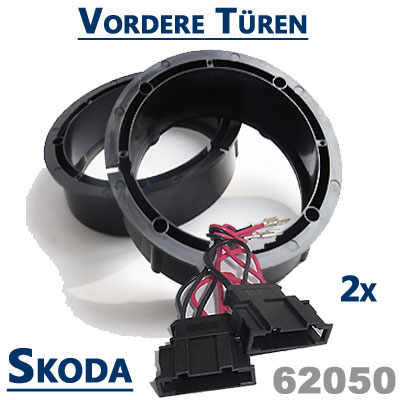 Skoda-Fabia-II-Lautsprecher-Einbauringe-vordere-Türen