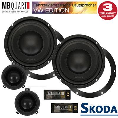 Skoda-Fabia-II-Lautsprecher-Set-mit-20cm-Bass-vordere-Türen