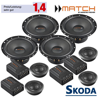 Skoda-Octavia-Auto-Lautsprecher-Set-mit-4-Hochtöner