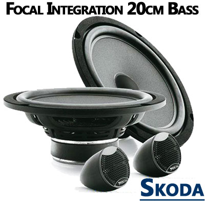 Skoda-Octavia-II-Lautsprecher-20cm-Bass-mit-Hochtöner-vordere-Türen
