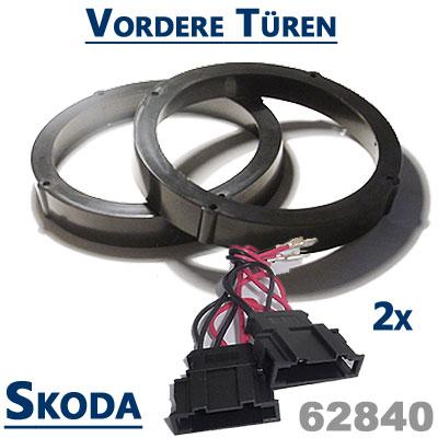 Skoda-Octavia-II-Lautsprecher-Einbauringe-vordere-Türen