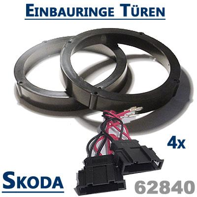 Skoda-Octavia-II-Lautsprecher-Einbauringe-vordere-und-hintere-Türen