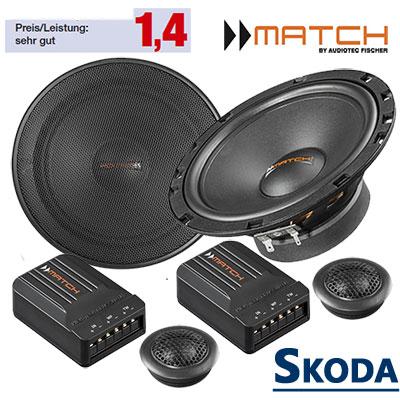 Skoda-Octavia-II-Lautsprecher-Note-sehr-gut-vordere-Türen