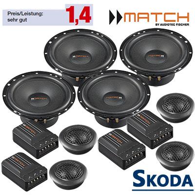 Skoda-Roomster-Auto-Lautsprecher-Set-mit-4-Hochtöner