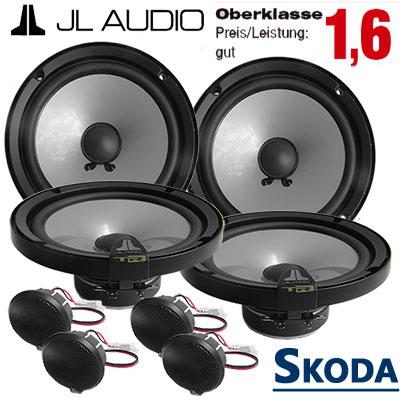 Skoda-Superb-II-Lautsprecher-Set-Oberklasse-vordere-und-hintere-Türen