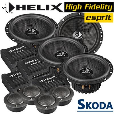 Skoda-Superb-II-Lautsprecher-Soundsystem-für-4-Türen