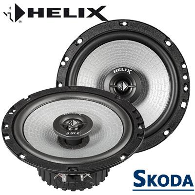 Skoda-Superb-II-Türlautsprecher-Set-Tieftöner-vorne-und-hinten