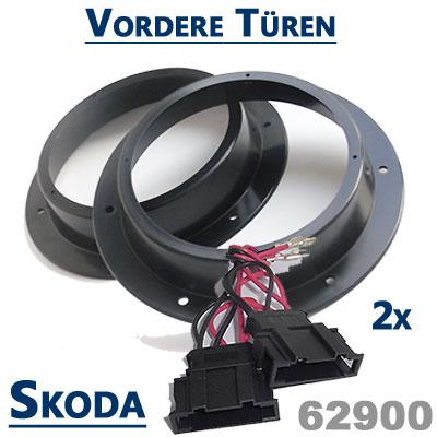 Skoda-Yeti-Lautsprecher-Einbauringe-vordere-Türen