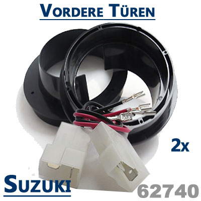 Suzuki-Grand-Vitara-Lautsprecher-Einbauringe-vordere-Türen