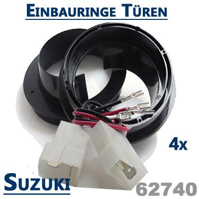Suzuki-Grand-Vitara-Lautsprecher-Einbauringe-vordere-und-hintere-Einbauplätze
