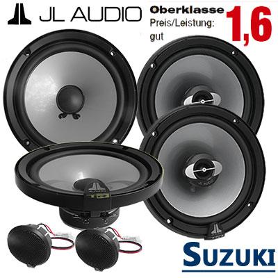 Suzuki-Grand-Vitara-Lautsprecher-Set-Oberklasse-vorne-und-hinten
