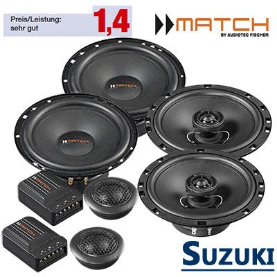 Suzuki-Grand-Vitara-Lautsprecher-Set-vordere-hintere-Einbauplätze