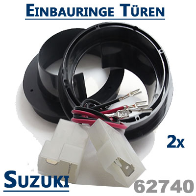 Suzuki-SX4-Lautsprecher-Einbauringe-vordere-oder-hintere-Türen