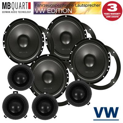 VW-Golf-4-Variant-Lautsprecher-Set-für-vier-Türen-mit-VW-Hochtöner