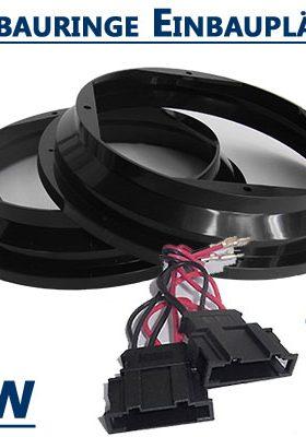VW-New-Beetle-Lautsprecherringe-20cm-vordere-und-hintere-Einbauplätze