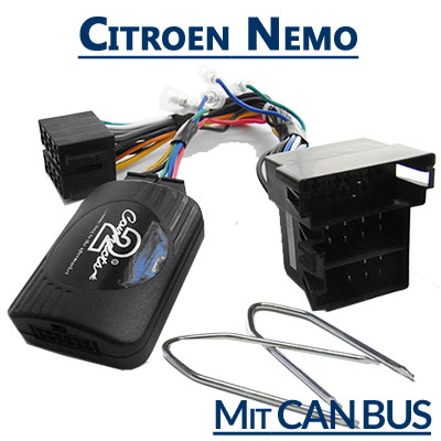 Citroen-Nemo-Lenkrad-Fernbedienung-Adapter-mit-CAN-BUS