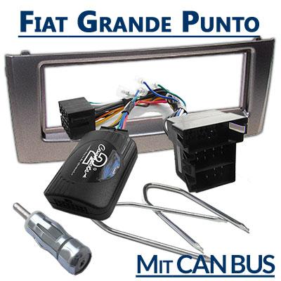 Fiat-Grande-Punto-Lenkrad-Fernbedienung-Adapter-Autoradio-Einbauset