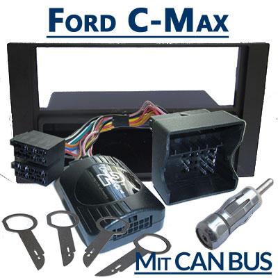 Ford-C-Max-Lenkradfernbedienung-CAN-BUS-mit-Autoradio-Einbauset