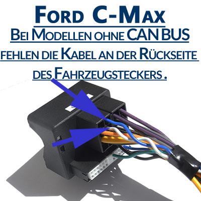 Ford-C-Max-ohne-Can-Bus-Signal-am-Fahrzeugstecker