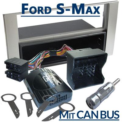 Ford-S-Max-Lenkrad-Fernbedienung-Adapter-mit-Autoradio-Einbauset