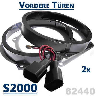 Honda-S2000-Lautsprecher-Einbauringe-für-die-vorderen-Türen
