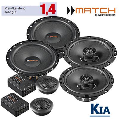 Kia-Ceed-ED-Lautsprecher-Set-vordere-hintere-Einbauplätze
