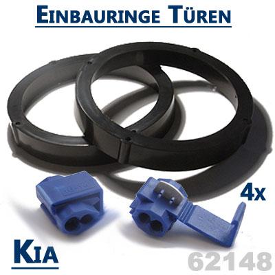 Kia-Ceed-Lautsprecher-Einbauringe-für-vordere-Türen-und-hintere-Einbauplätze