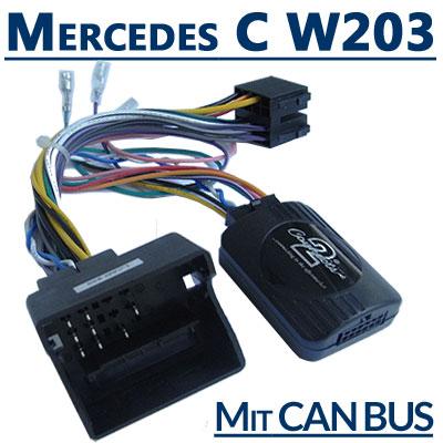 Mercedes-C-Klasse-W203-Adapter-für-Lenkradfernbedienung-mit-CAN-BUS