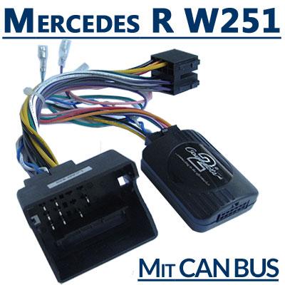 Mercedes-R-Klasse-W251-Adapter-für-Lenkradfernbedienung-mit-CAN-BUS