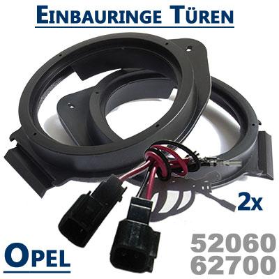 Opel-Meriva-B-Lautsprecher-Einbauringe-vordere-oder-hintere-Türen