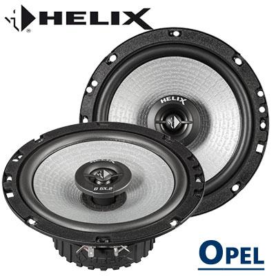 Opel-Meriva-B-Türlautsprecher-Set-Tieftöner-vorne-und-hinten